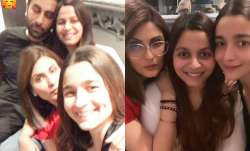 Ranbir Kapoor, Alia Bhatt spend their Saturday night with sisters Shaheen and Riddhima