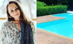 Soni Razdan spots snakes taking a dip in her swimming pool