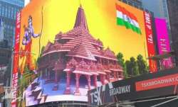 Ram Mandir digital billboard