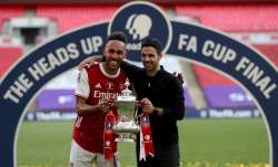 Pierre-Emerick Aubameyang coy over Arsenal future after FA Cup triumph
