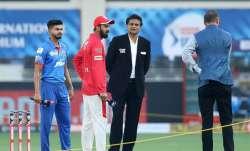 KL Rahul during toss in Dubai