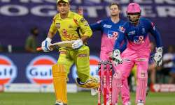 MS Dhoni against Rajasthan Royals