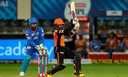 Live Score Sunrisers Hyderabad vs Delhi Capitals IPL 2020: Saha slams fifty as SRH solid