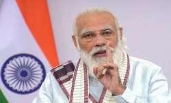 Prime Minister Narendra Modi addresses the nation, in New Delhi