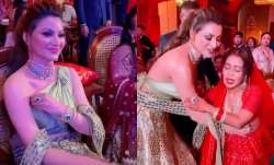 Urvashi Rautela made ethnic statement in leather at Neha