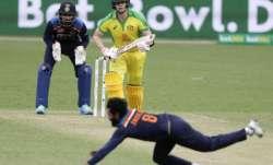 Australia's Steve Smith watches as India's Ravindra Jadeja