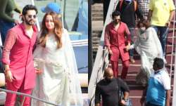 Varun Dhawan-Natasha Dalal head back to Mumbai