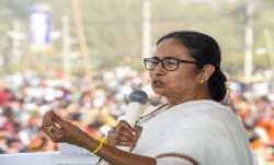 West Bengal Chief Minister Mamata Banerjee addresses a