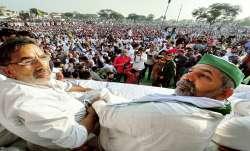 Rakesh Tikait says farmers will march to Parliament if laws
