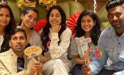 Janhvi Kapoor celebrates birthday on Good Luck Jerry sets