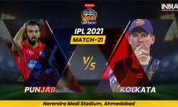 PBKS vs KKR IPL 2021: Find live updates from Punjab Kings vs Kolkata Knight Riders IPL 2021 Match Li