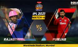 Live Cricket Score, IPL 2021, Match 4, RR vs PBKS Follow Live score and updates from Mumbai