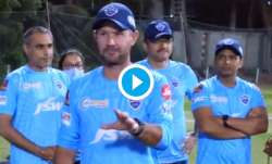 Delhi Capitals coach Ricky Ponting delivered a rousing