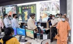 Chief Minister of Uttar Pradesh Yogi Adityanath inspect