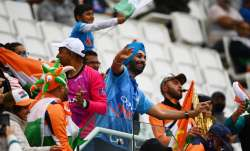 Fans enjoy the atmosphere during Day 3 of the ICC World