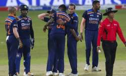India's team members in the third and final ODI against Sri Lanka