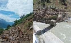 himachal pradesh kinnaur landslide, landslide kinnaur, bridge collapse kinnaur himachal pradesh, him