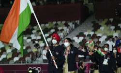 India at Tokyo Olympics opening ceremony