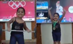 Little girl imitating Mirabai Chanu's Olympic victory wins netizen's hearts, including the athlete