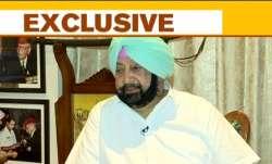 Former Punjab Chief Minister Amarinder Singh speaks to