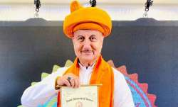 Anupam Kher conferred with honorary doctorate by Hindu University of America