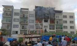 Massive fire at an apartment in Bengaluru.
