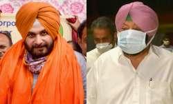 Punjab Congress President Navjot Singh Sidhu (L) and Former
