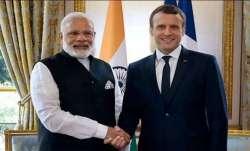 PM Narendra Modi with France President Emmanuel Macron