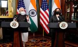 PMModi meets US Vice President Kamala Harris in