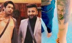 Shehnaaz Gill's brother Shehbaz Badesha gets Sidharth Shukla's face inked