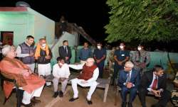 Home Minister Amit Shah interacts with locals in J&K.