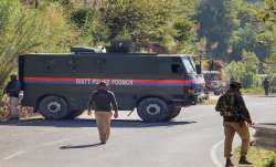 Poonch: Security personnel stand guard at the encounter
