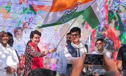 Congress general secretary Priyanka Gandhi Vadra flags off