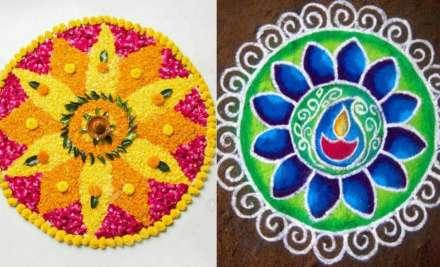 Eleven super simple Rangoli designs to make your Diwali