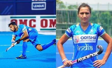 Hockey captains Manpreet Singh and Rani Rampal were on