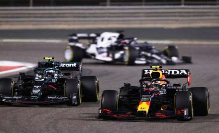 Sergio Perez of Mexico driving the (11) Red Bull Racing