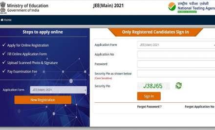 JEE Main 2021 April registration