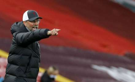 Liverpool's manager Jurgen Klopp reacts during the English