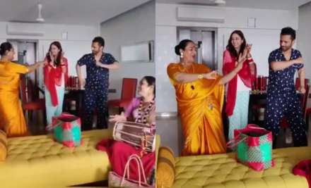 Rahul Vaidya, Disha Parmar dance their hearts out as they take blessings from Kinnar community