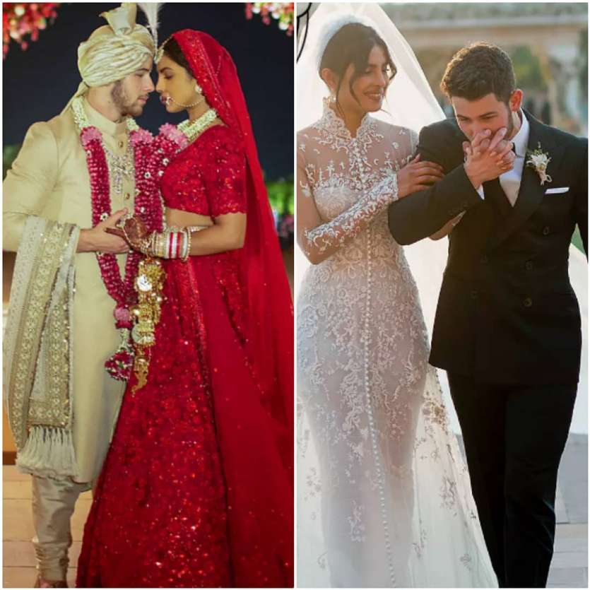 priyanka chopra wedding dress red