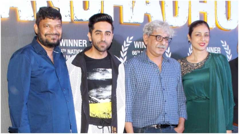 Latest Bollywood Pics Aug 22 Ayushmann Tabu At Andhadhun Success Party Arjun Rampal Attends Event With Gf Gabriella