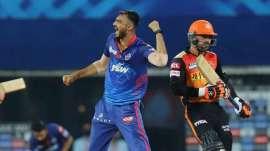 Delhi Capitals' Axar Patel in IPL 2021 against SRH