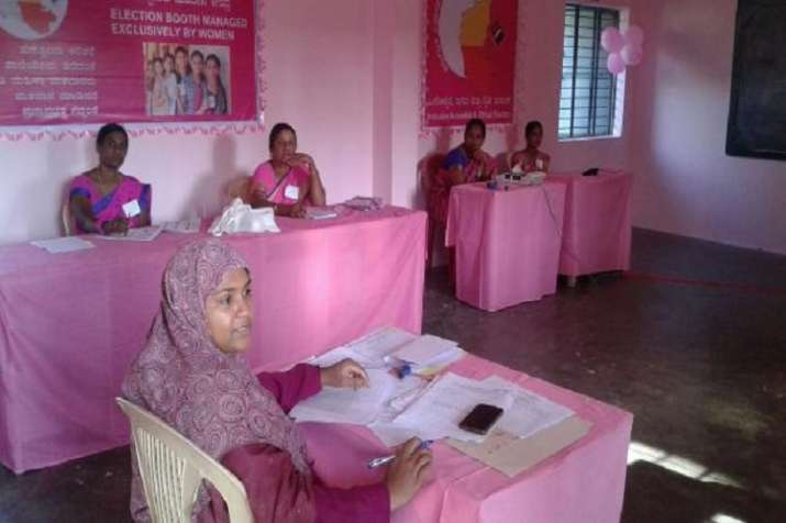 Pink polling booths in Telangana