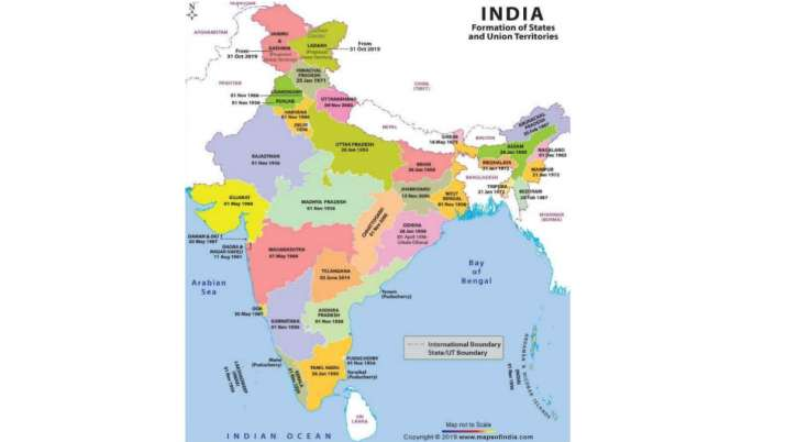 28 states of india map India Remapped Here S The Revised List Of States And Uts 28 states of india map