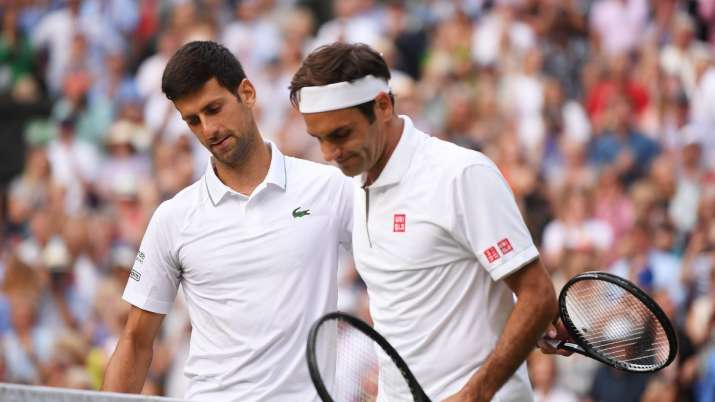 Roger Federer congratulates Novak Djokovic on reaching 20 Grand Slam titles